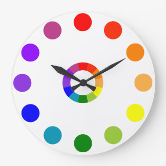 RYB Color Wheel Numberless Large Clock