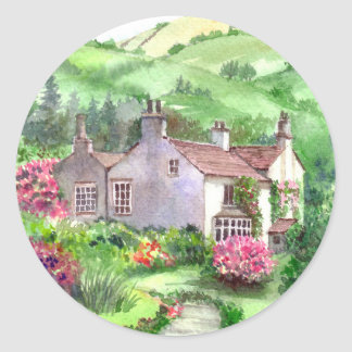 Rydal Mount, William Wordsworth's Home Classic Round Sticker