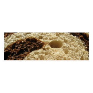Rye Bread Up Close Business Card Template