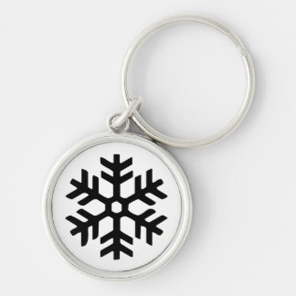 Rye North black snowflake key chain