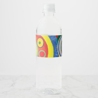 Rythme Joie de Vivre by Robert Delaunay Water Bottle Label