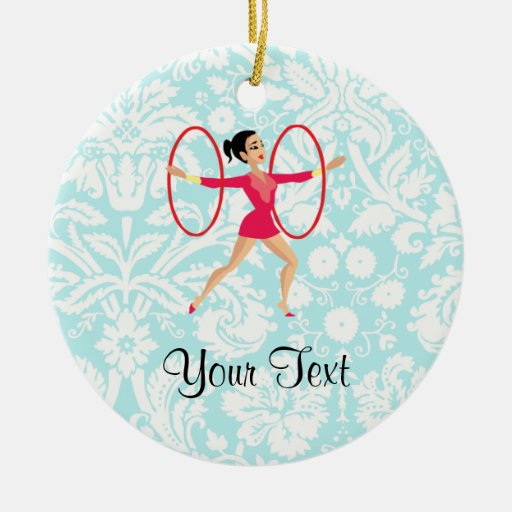 Rythmic Gymnastics Hoops Christmas Tree Ornaments
