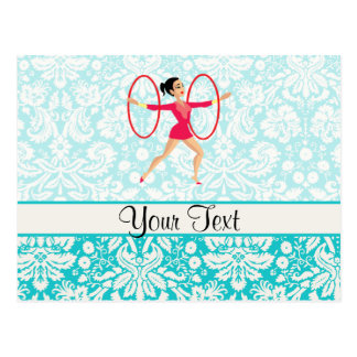 Rythmic Gymnastics Hoops Postcard