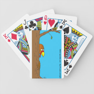 s13 Thanksgiving Turkey Hiding Behind Tree Bicycle Playing Cards