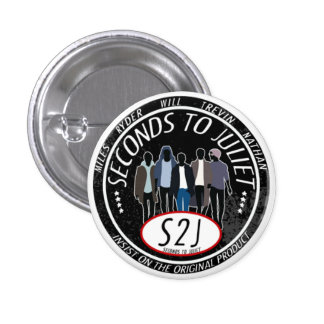 S2J band logo button - round and small
