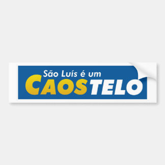 S6ao Lu3is adhesive is a Casotelo Bumper Sticker
