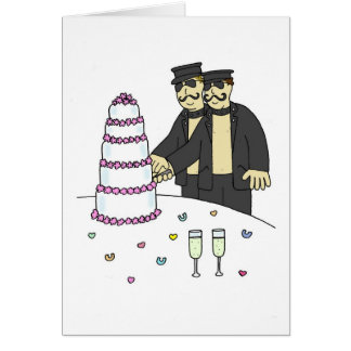 S and M grooms civil partnership. Card