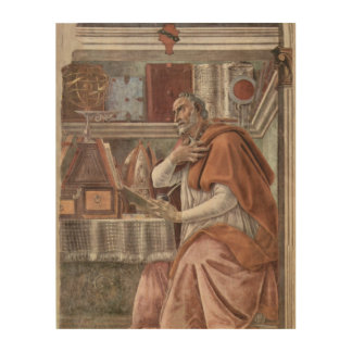 S. Augustinus in studio a Sandro Botticelli Wood Wall Art