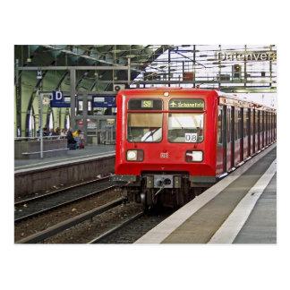 S - bahn Berlin, Germany. Metro. Postcard
