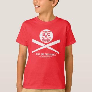 S&C Baseball Kids on Dark Apparel Tee Shirt