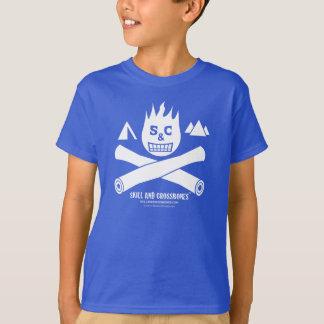 S&C Camping Kids on Dark Apparel Tee Shirts