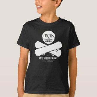 S&C Skateboarding Kids on Dark Apparel T-Shirt