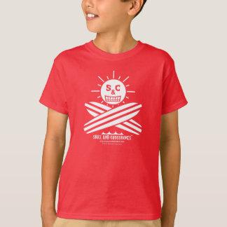 S&C Surfing Kids on Dark Apparel T-shirt