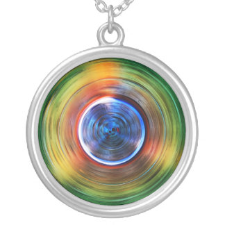 S-cycle Round Pendant Necklace