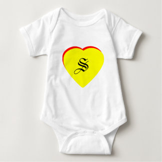 """S"" Heart Yellow Red Wedding Invitation The MUSEUM T-shirts"