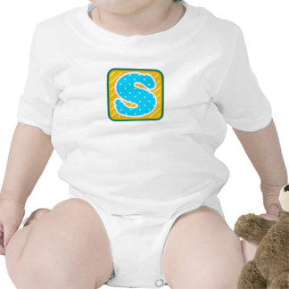 S Initial Emblem Baby Gift for boy with S name - Romper