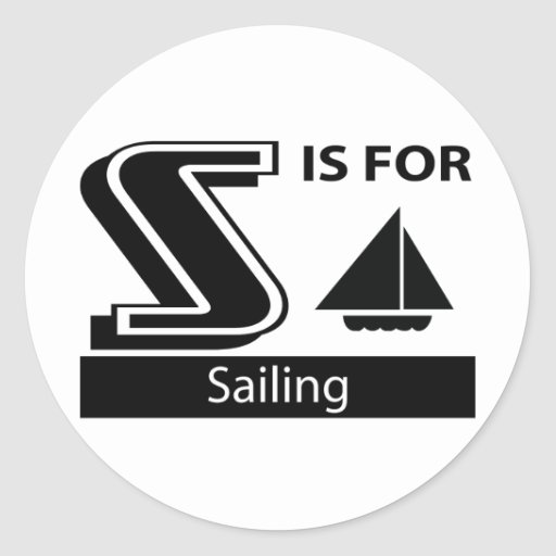 S Is For Sailing Sticker