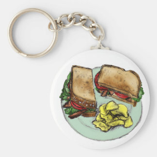 S is for Sandwich Key Ring