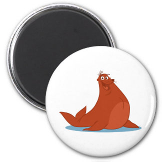 S is for Seal 6 Cm Round Magnet