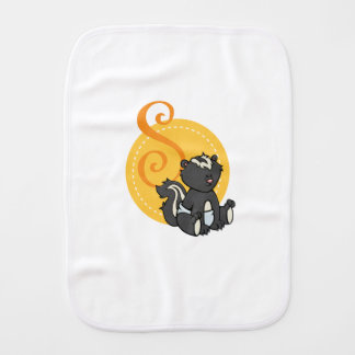S is for Skunk Burp Cloth