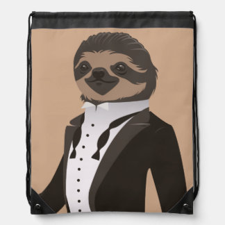 S is for Sloth in a Smoking Drawstring Bag