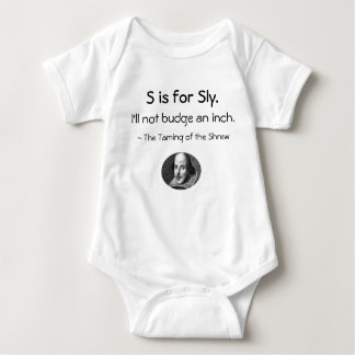 S is for Sly • A Little Shakespeare Little Shirt