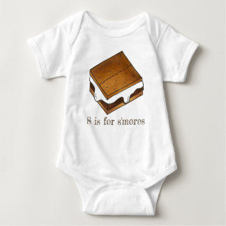 S is for S'mores Campfire Smores Letter S Alphabet Baby Bodysuit