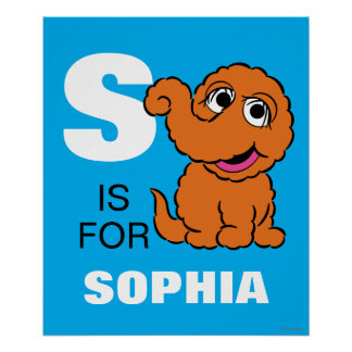 S is for Snuffleupagus | Add Your Name Poster