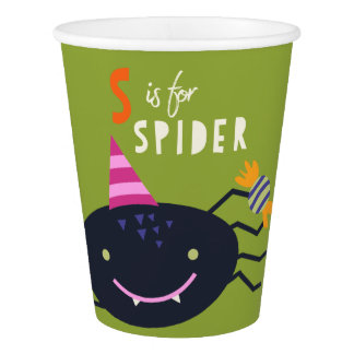S is for Spider Paper Cup