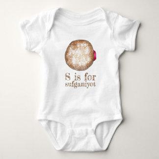 S is for Sufganiyot Jelly Donut Doughnut Hanukkah Baby Bodysuit