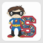 S is for Superhero Square Stickers