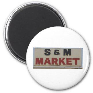 S&M Market Refrigerator Magnet