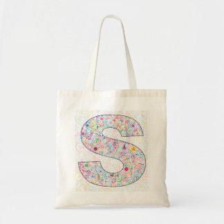 """""""S"""" Monogrammed Tote Bag"""