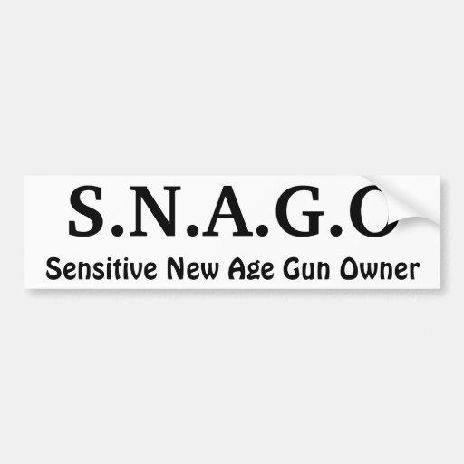 S.N.A.G.O, Sensitive New Age Gun Owner Bumper Sticker