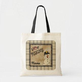 "S""no""w Peeking Gift Bag Budget Tote Bag"