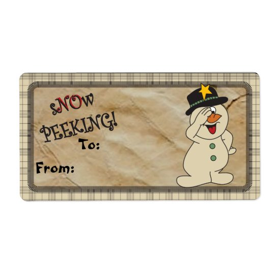 "S""no""w Peeking Snowman Gift Tags | Christmas"
