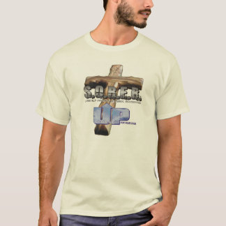 'S.O.B.E.R. U.P.' Men's T-Shirt - Beige