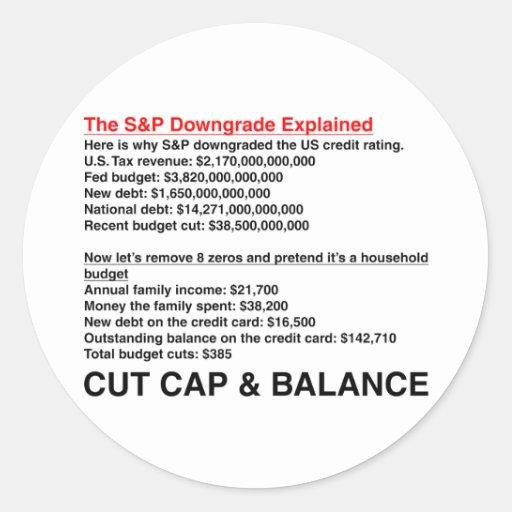 S&P Downgrade Explained Sticker