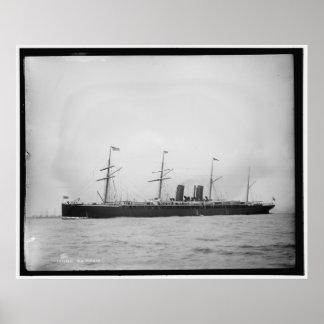 S.S. Alaska Ocean Liner 1890-1899 Vintage Posters