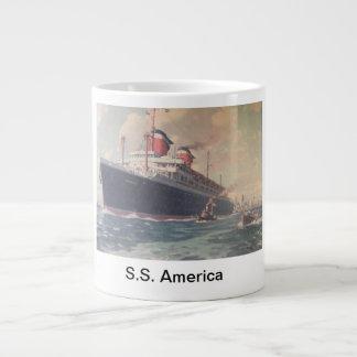 """S.S. America 1940"" Large Coffee Mug"