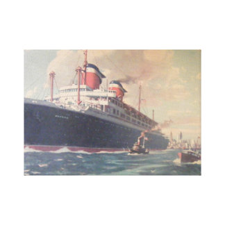 S.S. America Stretched Canvas Prints