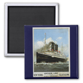 S.S. Caledonia - New York to and from Glasgow Magnet