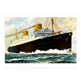 S.S. Columbus - Vintage Postcard