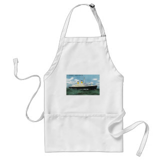 S.S. Constitution American Express Lines Vintage Standard Apron
