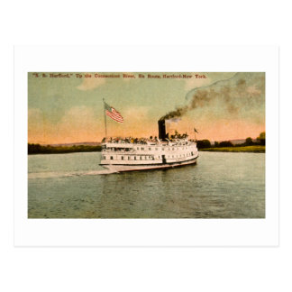 S.S. Hartford up the Connecticut River Postcard