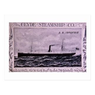 S.S. Iroquois Vintage U.S. Military Steamship Postcard