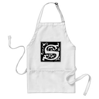 S-S letter Soul mate and love Aprons