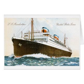 S.S. Manhattan United States Lines Card