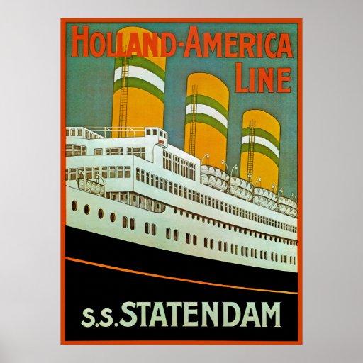 s.s. Statendam Print