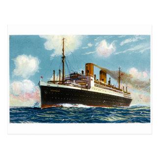 S.S. Stuttgart Luxury Ocean Liner - Vintage Postcard